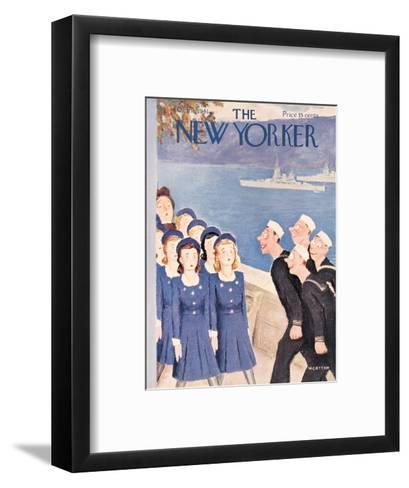 The New Yorker Cover - October 11, 1941-William Cotton-Framed Art Print
