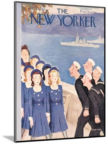 The New Yorker Cover - October 11, 1941-William Cotton-Mounted Premium Giclee Print