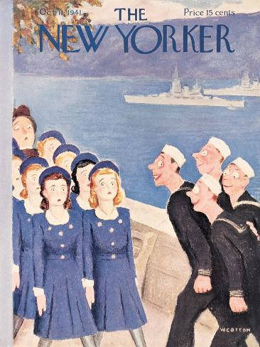 The New Yorker Cover - October 11, 1941-William Cotton-Stretched Canvas Print