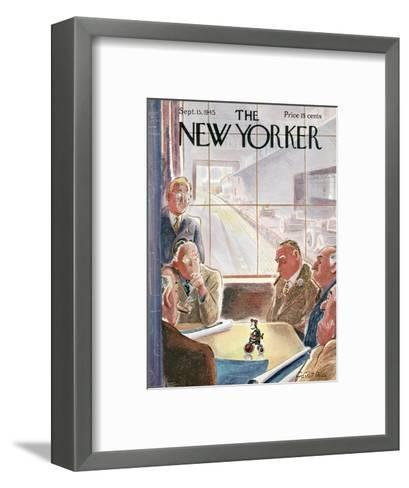 The New Yorker Cover - September 15, 1945-Garrett Price-Framed Art Print