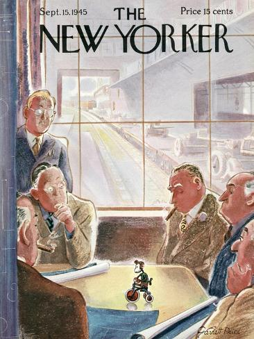 The New Yorker Cover - September 15, 1945-Garrett Price-Stretched Canvas Print