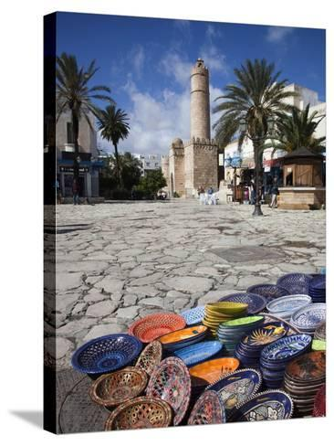 Medina Market by the Great Mosque, Sousse, Tunisia-Walter Bibikow-Stretched Canvas Print