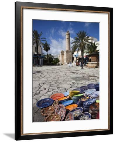 Medina Market by the Great Mosque, Sousse, Tunisia-Walter Bibikow-Framed Art Print