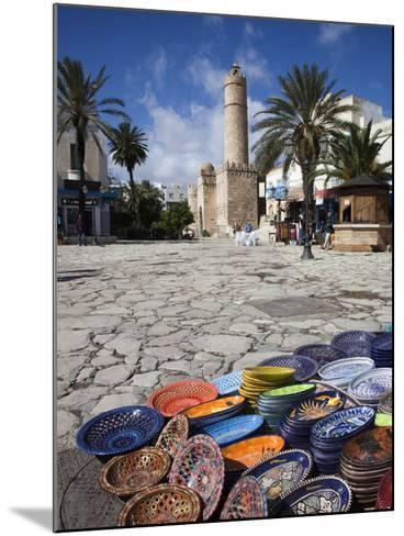 Medina Market by the Great Mosque, Sousse, Tunisia-Walter Bibikow-Mounted Photographic Print