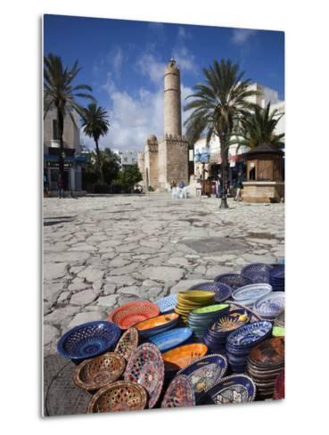 Medina Market by the Great Mosque, Sousse, Tunisia-Walter Bibikow-Metal Print