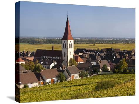Ammerschwihr, Alsatian Wine Route, Alsace Region, Haut-Rhin, France-Walter Bibikow-Stretched Canvas Print