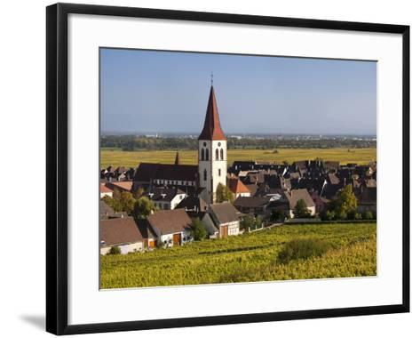 Ammerschwihr, Alsatian Wine Route, Alsace Region, Haut-Rhin, France-Walter Bibikow-Framed Art Print