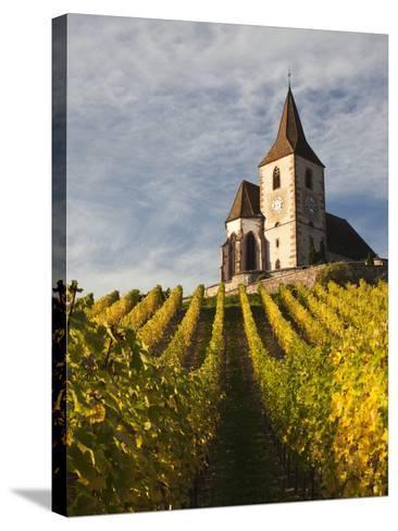 Hunawihr, Alsatian Wine Route, Alsace Region, Haut-Rhin, France-Walter Bibikow-Stretched Canvas Print