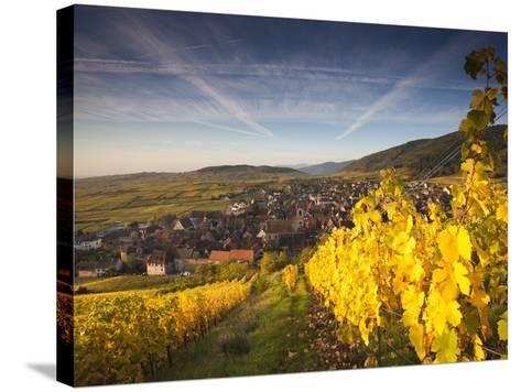 Riquewihr, Alsatian Wine Route, Alsace Region, Haut-Rhin, France-Walter Bibikow-Stretched Canvas Print