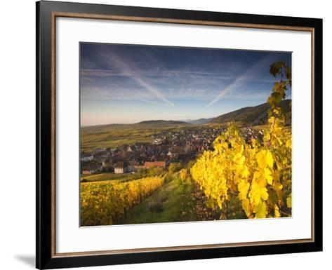 Riquewihr, Alsatian Wine Route, Alsace Region, Haut-Rhin, France-Walter Bibikow-Framed Art Print