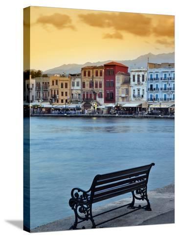 Chania at Dusk, Chania, Crete, Greece-Adam Jones-Stretched Canvas Print