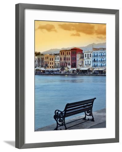 Chania at Dusk, Chania, Crete, Greece-Adam Jones-Framed Art Print