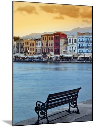 Chania at Dusk, Chania, Crete, Greece-Adam Jones-Mounted Photographic Print