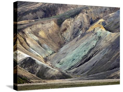 Pattern in Volcanic Mountain Slope, Iceland-Adam Jones-Stretched Canvas Print