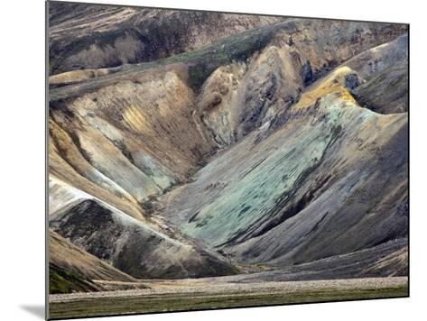 Pattern in Volcanic Mountain Slope, Iceland-Adam Jones-Mounted Photographic Print
