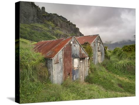 Rural Buildings, Iceland-Adam Jones-Stretched Canvas Print