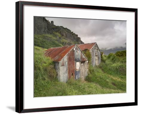 Rural Buildings, Iceland-Adam Jones-Framed Art Print