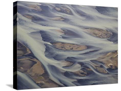 Aerial of Holsa River Delta Fingers, Reykjavik, Iceland-Josh Anon-Stretched Canvas Print