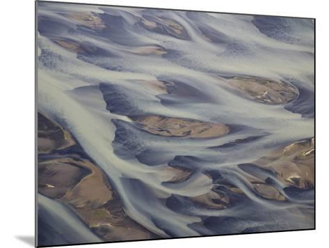 Aerial of Holsa River Delta Fingers, Reykjavik, Iceland-Josh Anon-Mounted Photographic Print