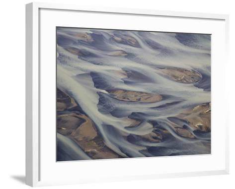 Aerial of Holsa River Delta Fingers, Reykjavik, Iceland-Josh Anon-Framed Art Print