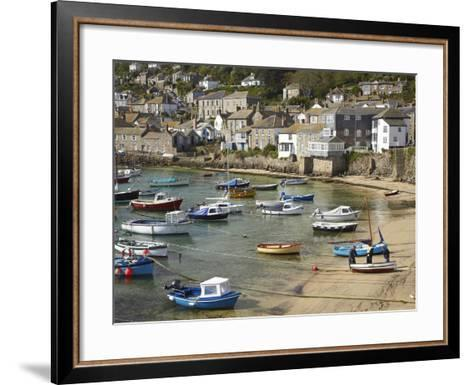 Boats in Mousehole Harbour, Near Penzance, Cornwall, England-David Wall-Framed Art Print