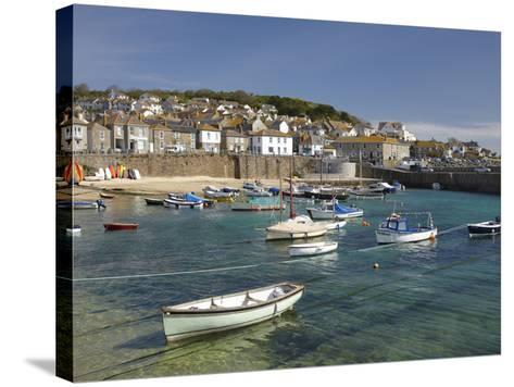 Boats in Mousehole Harbour, Near Penzance, Cornwall, England-David Wall-Stretched Canvas Print