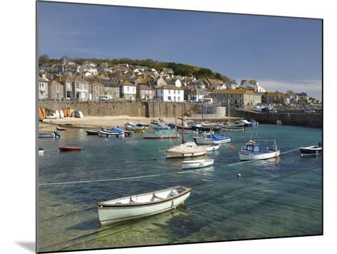 Boats in Mousehole Harbour, Near Penzance, Cornwall, England-David Wall-Mounted Photographic Print