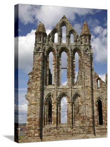 Whitby Abbey Ruins (Built Circa 1220), Whitby, North Yorkshire, England-David Wall-Stretched Canvas Print