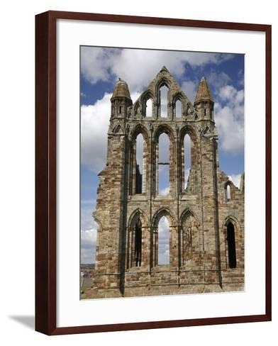 Whitby Abbey Ruins (Built Circa 1220), Whitby, North Yorkshire, England-David Wall-Framed Art Print