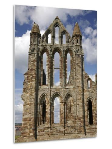 Whitby Abbey Ruins (Built Circa 1220), Whitby, North Yorkshire, England-David Wall-Metal Print