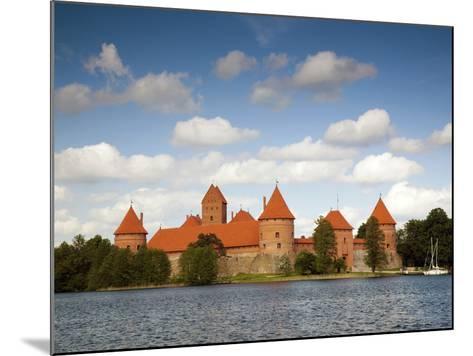 Island Castle on Lake Galve, Trakai Historical National Park, Trakai, Lithuania-Walter Bibikow-Mounted Photographic Print
