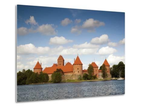Island Castle on Lake Galve, Trakai Historical National Park, Trakai, Lithuania-Walter Bibikow-Metal Print