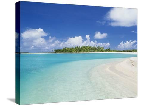 Beach, Rangiroa, French Polynesia-Douglas Peebles-Stretched Canvas Print