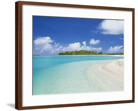 Beach, Rangiroa, French Polynesia-Douglas Peebles-Framed Art Print