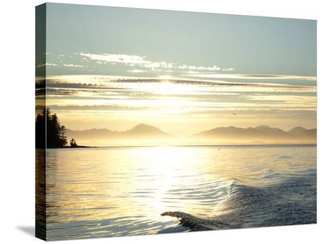 Sunset, Southeast Near Ketchikan, Alaska, Usa-Savanah Stewart-Stretched Canvas Print