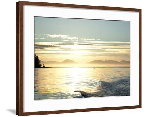 Sunset, Southeast Near Ketchikan, Alaska, Usa-Savanah Stewart-Framed Art Print