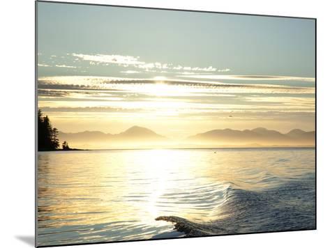 Sunset, Southeast Near Ketchikan, Alaska, Usa-Savanah Stewart-Mounted Photographic Print
