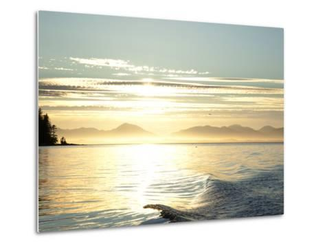 Sunset, Southeast Near Ketchikan, Alaska, Usa-Savanah Stewart-Metal Print