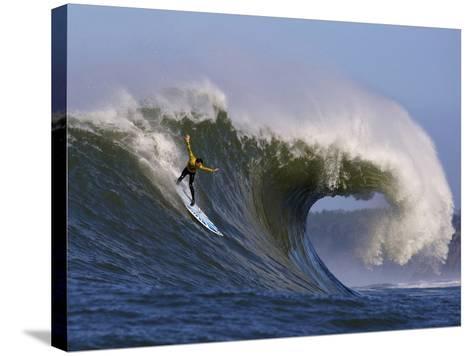 Mavericks Surf Competition 2010, Half Moon Bay, California, Usa-Rebecca Jackrel-Stretched Canvas Print