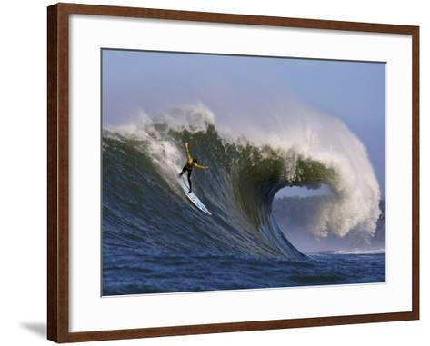 Mavericks Surf Competition 2010, Half Moon Bay, California, Usa-Rebecca Jackrel-Framed Art Print