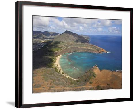 Hanauma Bay, Oahu, Hawaii-Douglas Peebles-Framed Art Print
