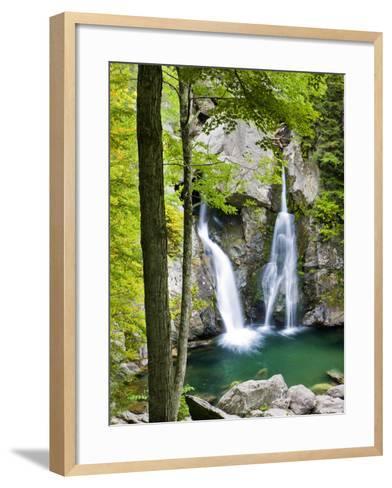 Bish Bash Falls in Bish Bash Falls State Park in Mount Washington, Massachusetts, Usa-Jerry & Marcy Monkman-Framed Art Print