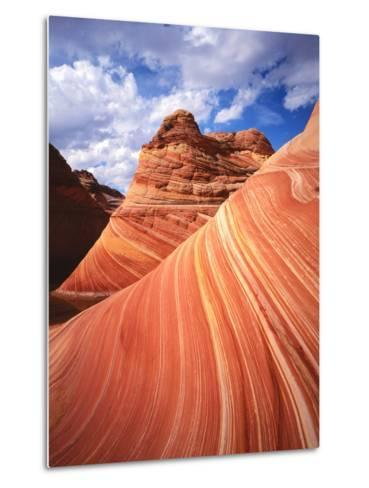 Colorful Sandstone Swirls in the Wave Formation, Paria Canyon, Utah, Usa-Dennis Flaherty-Metal Print