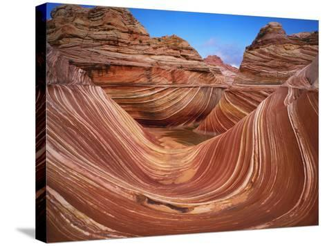 Colorful Sandstone Swirls in the Wave Formation, Paria Canyon, Utah, Usa-Dennis Flaherty-Stretched Canvas Print