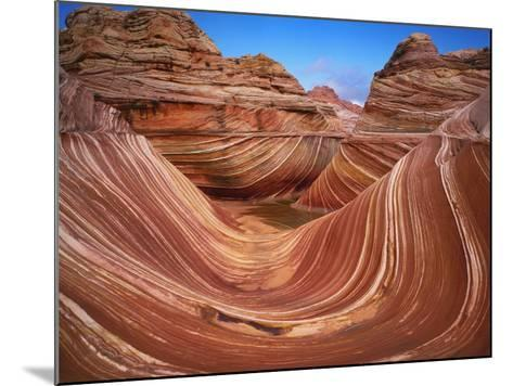 Colorful Sandstone Swirls in the Wave Formation, Paria Canyon, Utah, Usa-Dennis Flaherty-Mounted Photographic Print