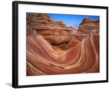 Colorful Sandstone Swirls in the Wave Formation, Paria Canyon, Utah, Usa-Dennis Flaherty-Framed Art Print