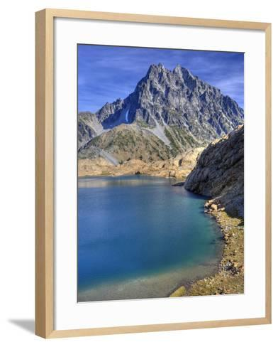 Ingalls Lake and Mt. Stuart, Alpine Lakes Wilderness, Washington, Usa-Jamie & Judy Wild-Framed Art Print