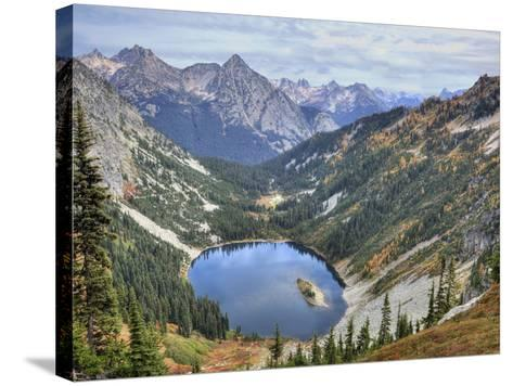 Lake Ann from Maple Pass Loop Trail, Wenatchee National Forest, Washington, Usa-Jamie & Judy Wild-Stretched Canvas Print
