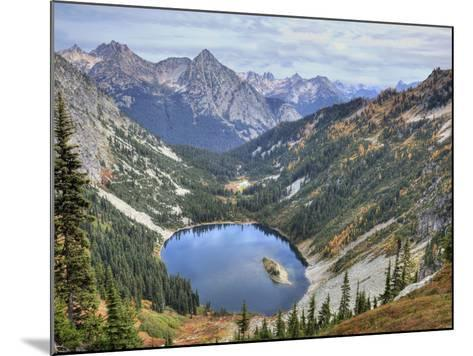 Lake Ann from Maple Pass Loop Trail, Wenatchee National Forest, Washington, Usa-Jamie & Judy Wild-Mounted Photographic Print