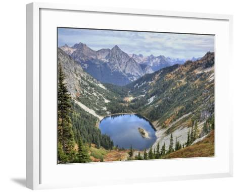 Lake Ann from Maple Pass Loop Trail, Wenatchee National Forest, Washington, Usa-Jamie & Judy Wild-Framed Art Print